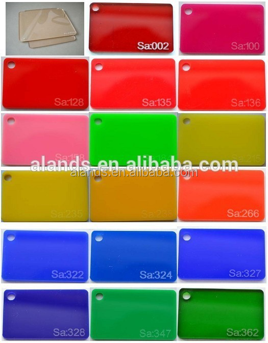 18mm High glossed color clear cast acrylic plastic sheet