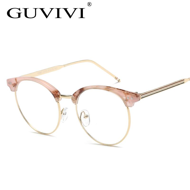 GUVIVI Custom stickers logo sunglasses China wholesale optical eyeglasses frame Transparent Optical frame