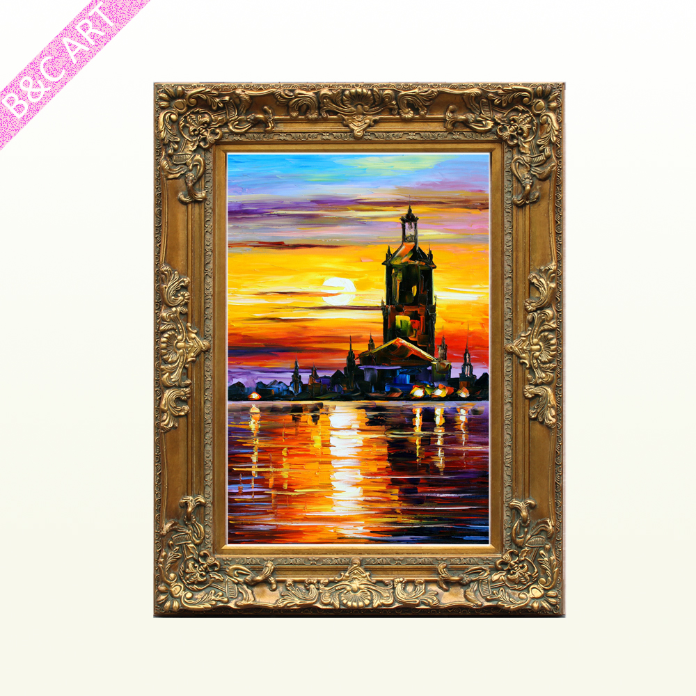 Different Types Photo Frames Beautiful Scenery Wall Painting Finished Wood Boxes For Retail Online Shopping