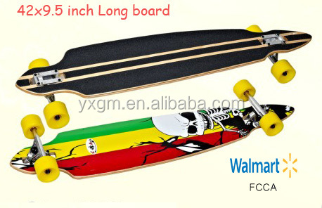 42x9.5 inch wholesale canadian maple professional longboard