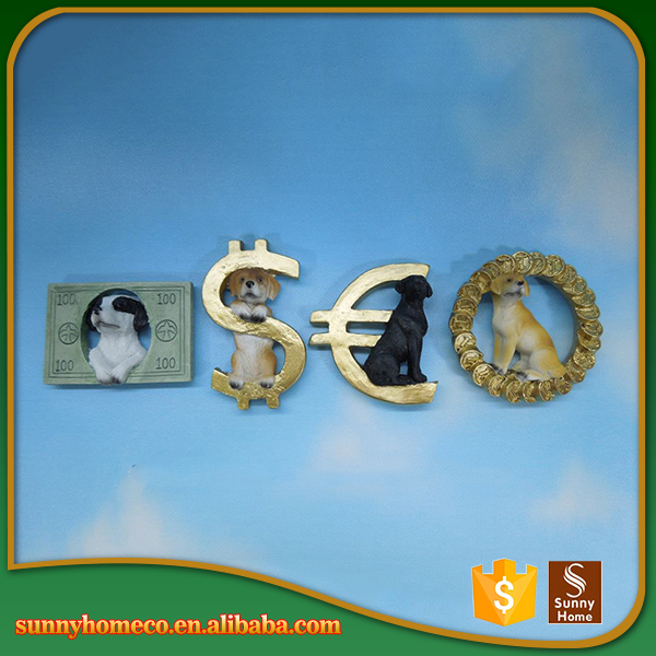 Customized cheap resin dog sculpture for home decor
