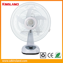 16 Inches Solar Powered AC/DC Rechargeable Table Fan with LED