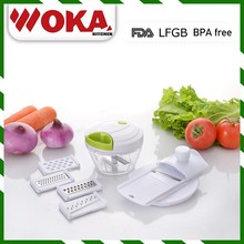 Best selling mini vegetable chopper slicer cutter shredder grinder set for salad, fruit ,food processor master vegetable