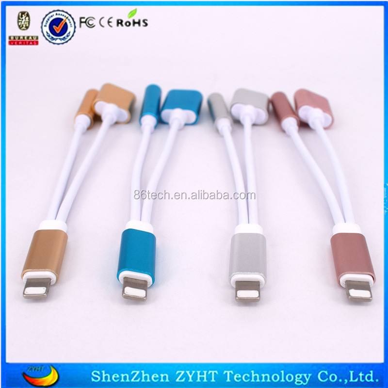 2 in 1 for iphone 7 headphone adapter for iPhone 7 earphone adapter