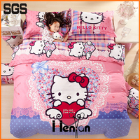 custom print kids 3D polyester bed sheet