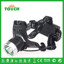 High power zoomable 5W Aluminum rechargeable xml t6 led headlamp for camping