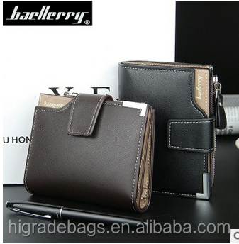 Wholesale Free Shipping 2016 pidengbao/bogesi/baellerry wallet with zipper Mix Color Card holder Coin Purse Pockets wallet men