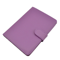 Faux Leather Case Cover Folding Stand for Sony PRS-T2 eReader - Purple