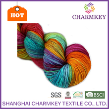 2016 colorful dyed acrylic charmkey good reputation fancy yarn 100% spun acrylic yarn