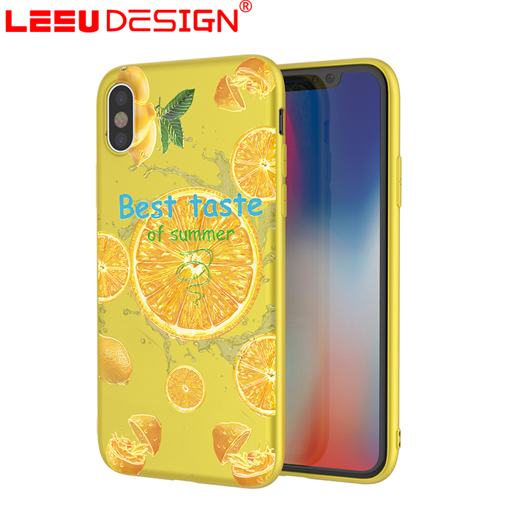 LEEU DESIGN Gift phone case packaging box tpu back case cover for apple iphone x