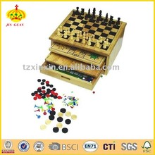 10 IN 1 Wooden Game Set/multi game box