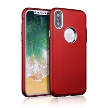 Pure Color Plated Metallic rubberized TPU Cover Case For Iphone X