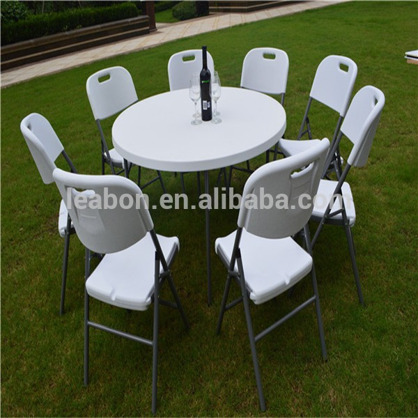2017 Plastic Banquet Folding Table And Chairs6ft Round TableCatering