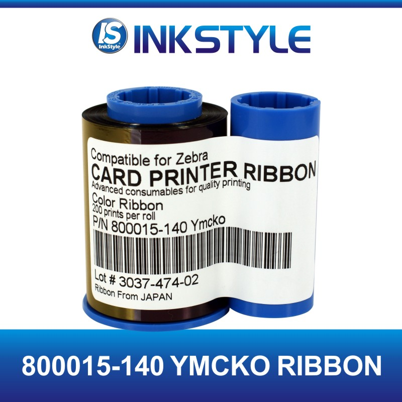 Compatible ribbon for Zebra 800015-140 YMCKO for P300C P310C card printer