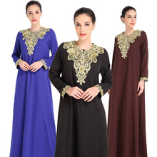 China Manufacturer Long Sleeve Muslim Dress Maxi Casual Clothing Indonesia Dress for sale