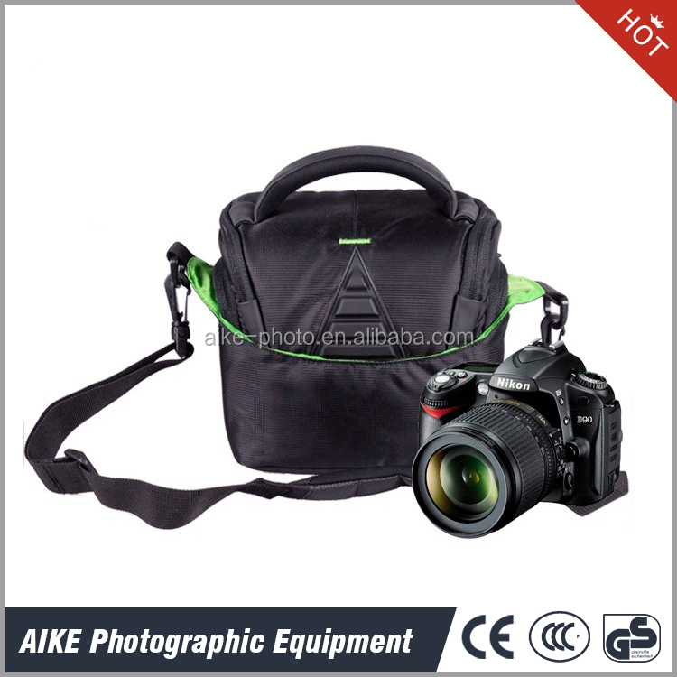 Hot Sale Wholesale Polyester Shock proof Camera Shoulder bag from manufacturers for DSLR SLR Cameras with Rain Cover