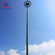 hot dip galvanized steel stadium high mast lighting pole