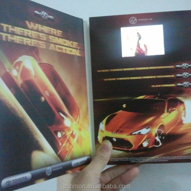 Smart 5 inch advertising booklet/video promotional book/tv card