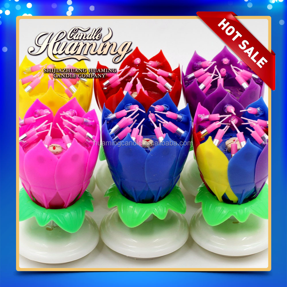 <strong>14</strong> candles flower birthday candle / factory directly supplyng
