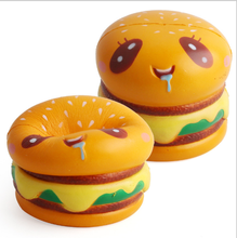 Promotional Stress Relief Slow Recovery PU Hamburg squishy Toys