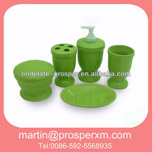 Green ceramic bathroom sets and accessories