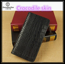Genuine leather zipper wallet crocodile skin with 12 card slots