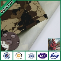 DENTIK waterproof breathable ptfe camouflage fabric, fabric for personal protective jacket