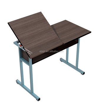 Height Adjustable Wooden Art Table For SchoolArt Training TableArt - Adjustable training table