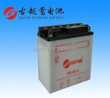 12V 16Ah Dry Charged Lead Acid Motorcycle Batteries YB16B-A