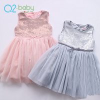 Q2-baby Hot Fall Sleeveless Bowknot Decorate Party Designs Frocks Dress For Baby Girl