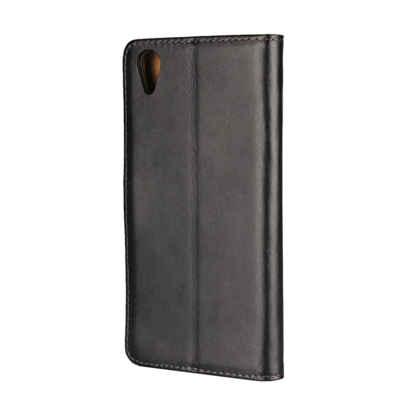 Mobile Phone Pouch Etui Funda Para Coque Black Case Phone Leather Wallet Cover For Sony Xperia XA1 Plus Case