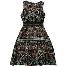 New Promotion Latest dress designs black sleeveless printed slim Button Belt Decoration fashion 2016 women dresses lady