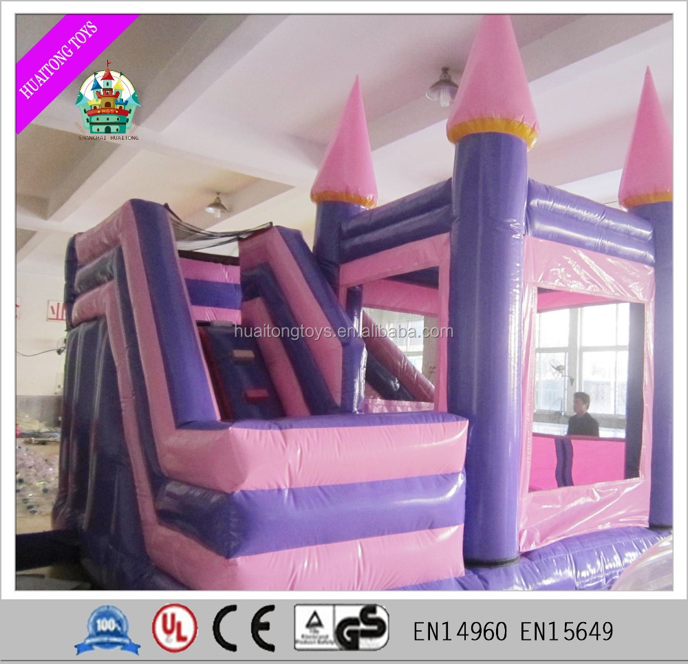Attractive outdoor inflatable bouncy and slide combo for children