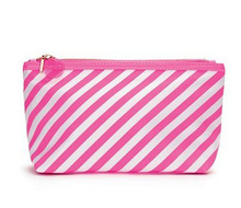 Stripes Printed Waterproof Clear PVC Cosmetic Makeup Bag and Pouch