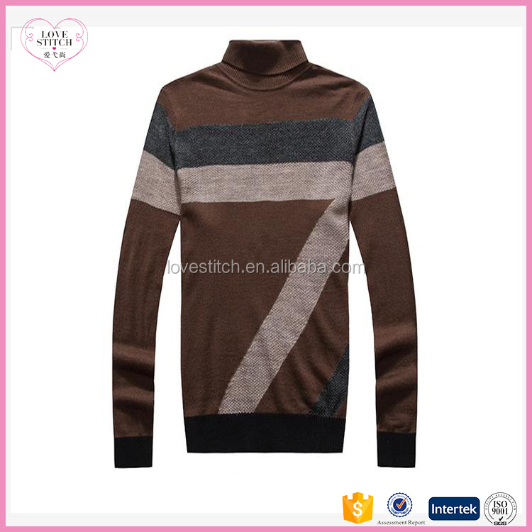 OEM factory price high quality latest design hot sale 100% cotton jacquard men pullover sweater