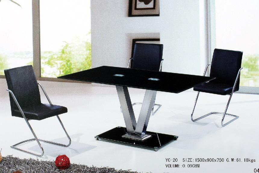 modern tempered glass table dining
