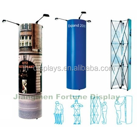 foldable exhibition advertsing pillar stand pop up tower kit