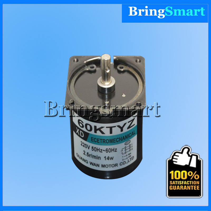 Wholesale 60Ktyz 220V Synchronous AC <strong>Motor</strong> 2.5-110Rpm Single Phase Electric Gear <strong>Motor</strong> High Torque Low Speed Bringsmart