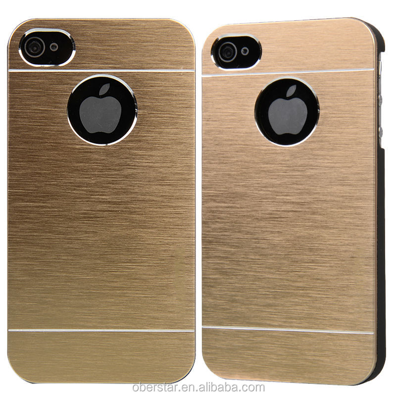 Newest Luxury Motomo Aluminum Metal Brushed Hard Slim Case Cover For Apple iPhone 4/4S