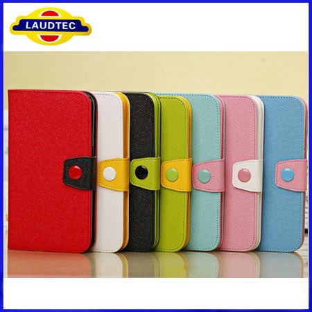 For samsung galaxy s4 mini Fashion PU Leather Colorful Clutch Case Lady Wallet Purse