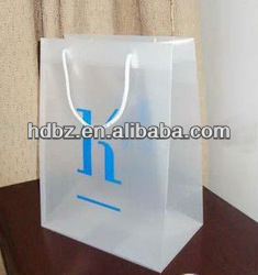 Fashion clear plastic shopping bags with handles