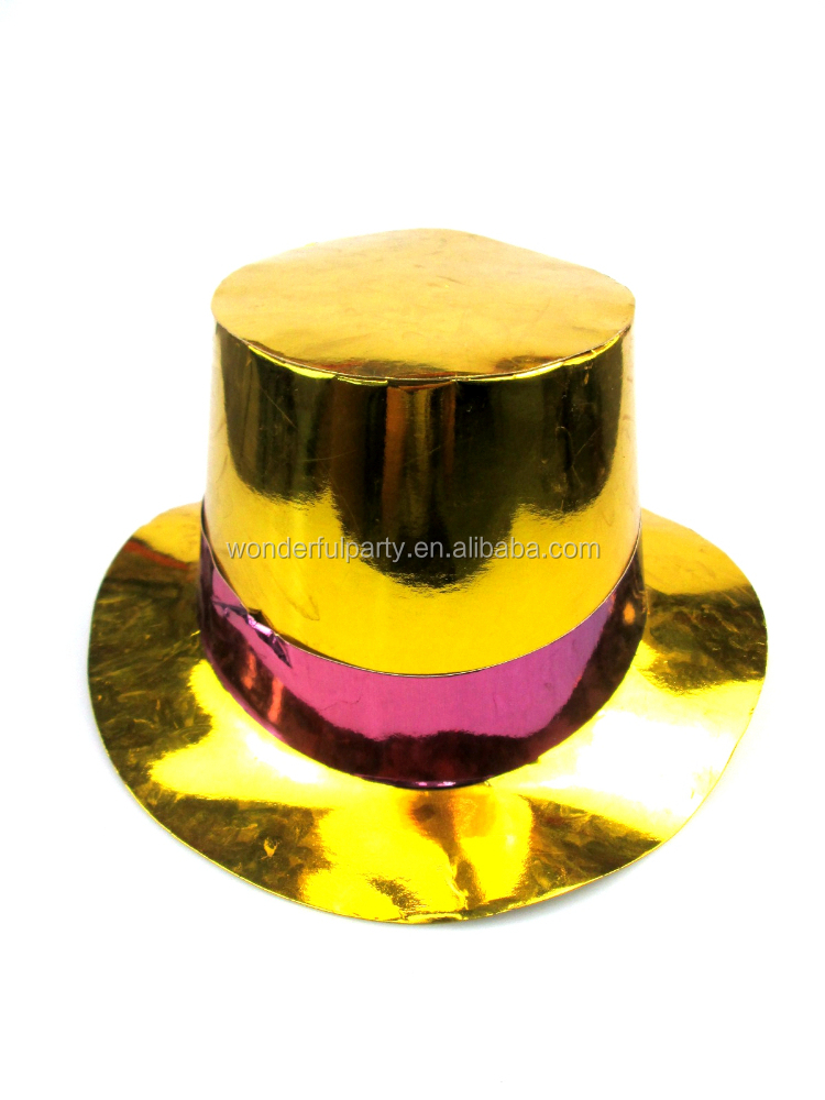 printing PVC stage golden decorate top hat