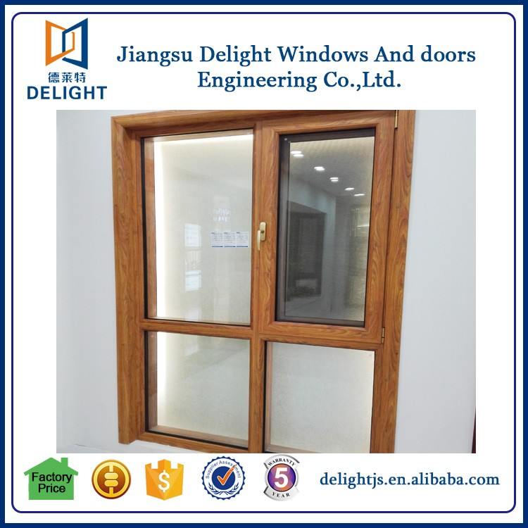 Aluminum extruded frame oak and pine wooden window
