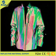 new arrival rainbow reflective fabric for fashion clothing or jacket