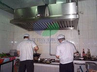 Electrostatic Chimney Hood Filter for Kitchen Gas Purification