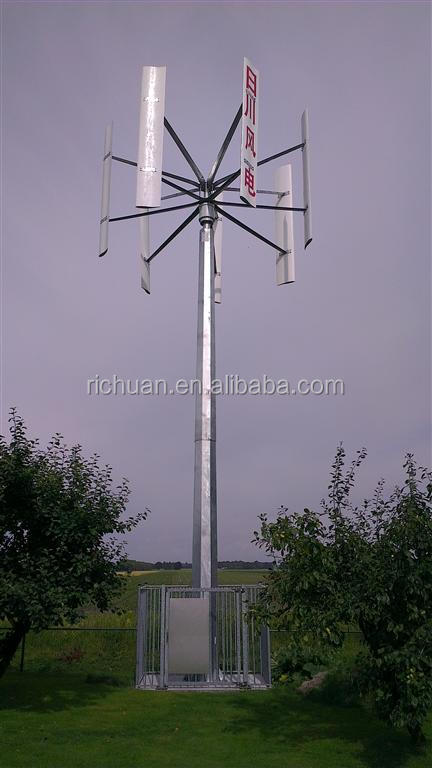10 kw green design portable vertical axis wind turbine generator for sale