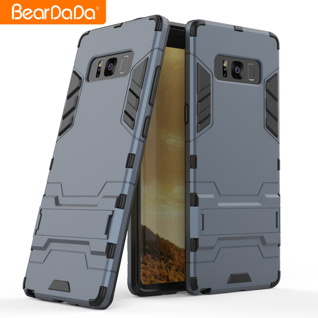High quality tpu pc kickstand armor mobile phone cover case for samsung galaxy note 8 5