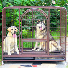 large square tube dog kennel metal dog cage of cost performance
