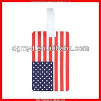 USA flags color soft PVC luggage tag High quality (MYD-LT6666)