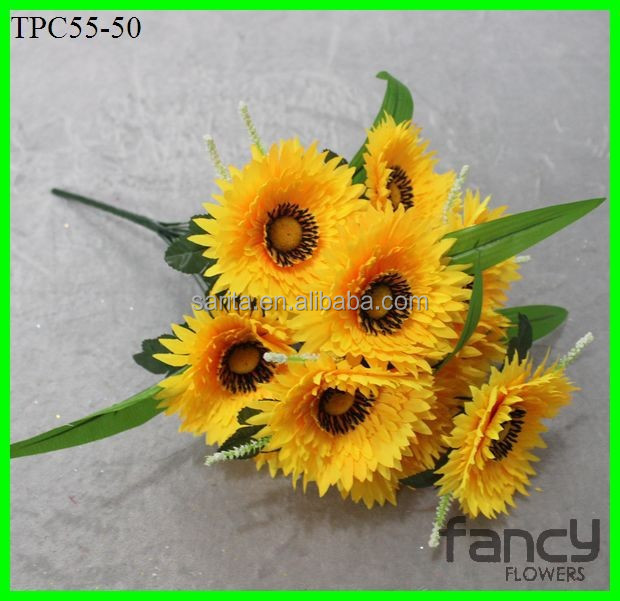 12 heads artificial flower wholesale cemetery flower